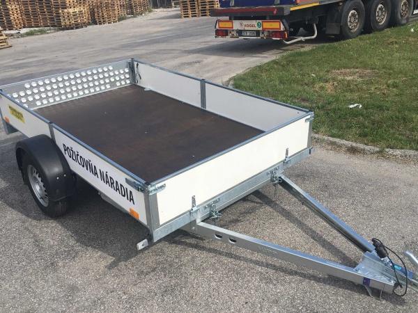 Prívesný vozík do 750 kg, 253 x 153 cm